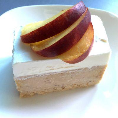Frozen Peach Cake - Peach Semifreddo Cake